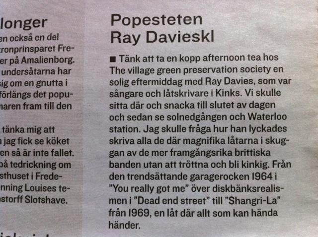 Popesteten Ray Davies