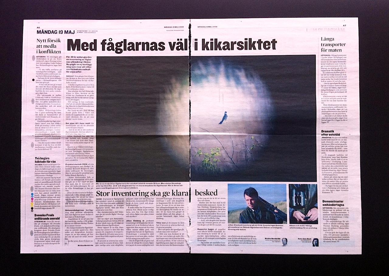 Ny inventering av fågelarterna i Skåne