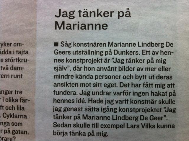 Jag tänker på Marianne