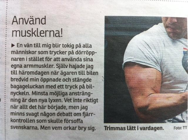 Använd musklerna!