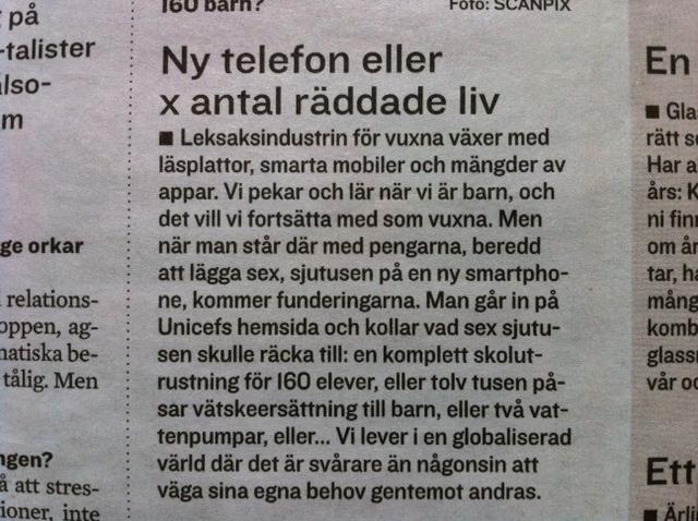 Ny telefon eller x antal räddade liv