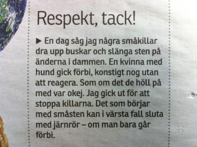 Respekt, tack!