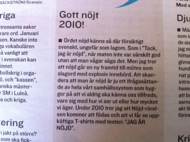 Gott nöjt 2010